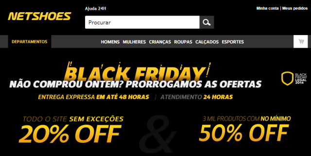 Black Friday na Netshoes