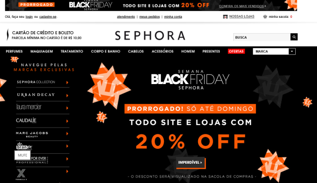 Black Friday na Sephora