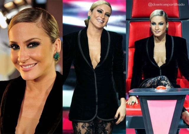 Claudia Leitte no The Voice Brasil - Reprodução EGO/ TV Globo
