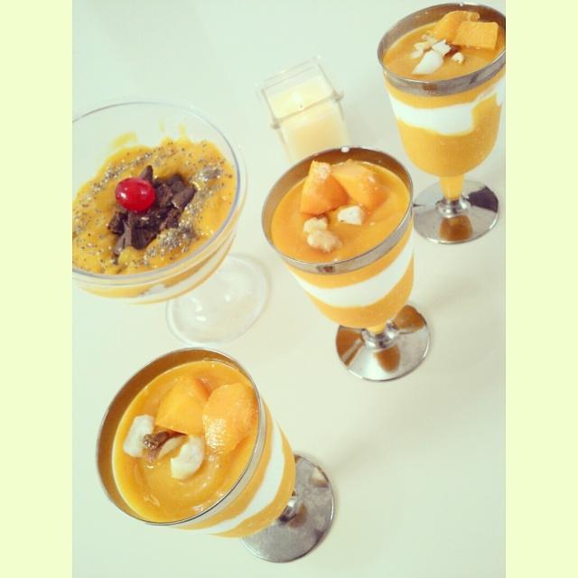 Creme de manga com iogurte grego light