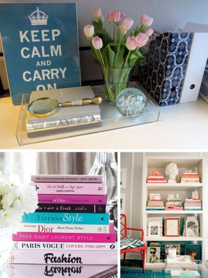 Como decorar com livros
