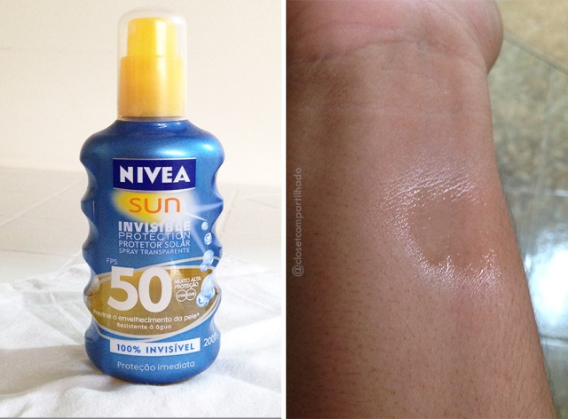 Closet Compartilhado - Nivea Sun Invisible Protection Spray FPS 50 a97c3e597e4
