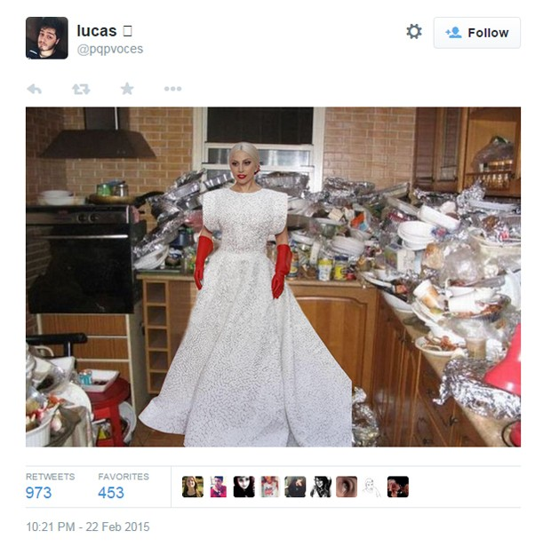Lady Gaga e outros artistas viram memes durante o Oscar 2015