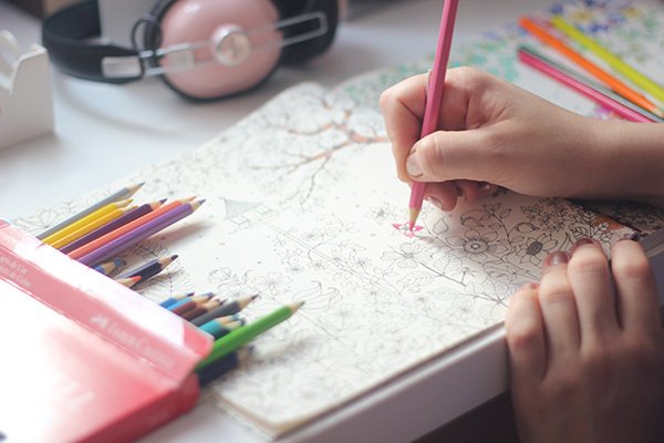 Livros para colorir voltados para adultos